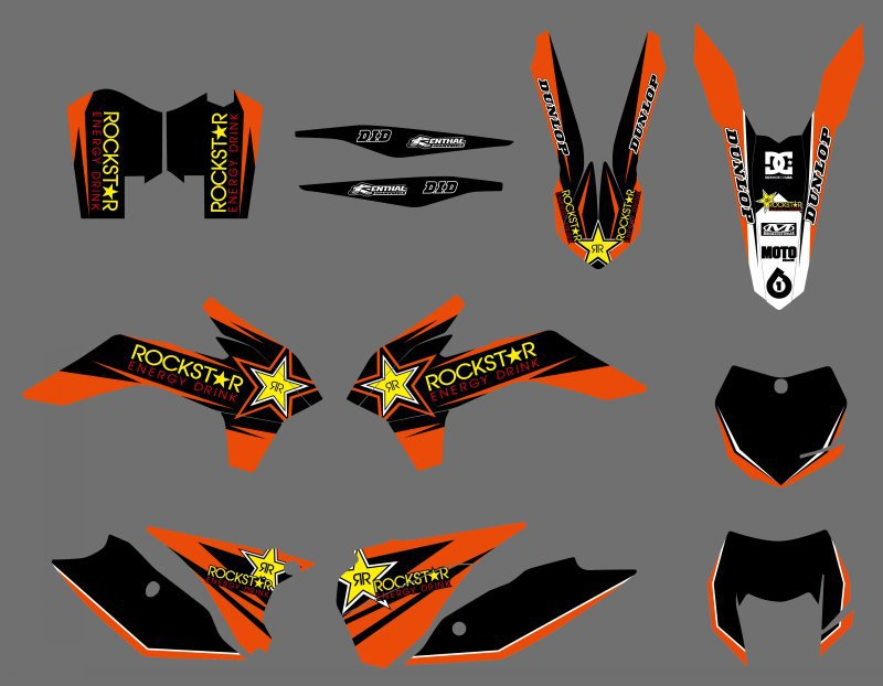 NEW TEAM GRAPHICS WITH MATCHING BACKGROUNDS DECALS STICKERS FOR KTM 125/200/250/300/450/500 EXC XCW XCFW SIX DAYS 2014 2015 2016 0584 new team graphics with matching backgrounds for ktm 125 200 250 300 450 500 exc xc w xcf w six days 2014 2015 2016