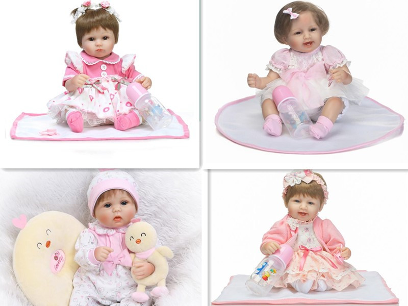 16inches hot-selling silicone reborn baby dolls girls dolls boneca mini vinyl soft body doll toys for child pillow gift realista new original body for monster dolls best gift toys to child many styles to choose monster dolls only the body free shipping