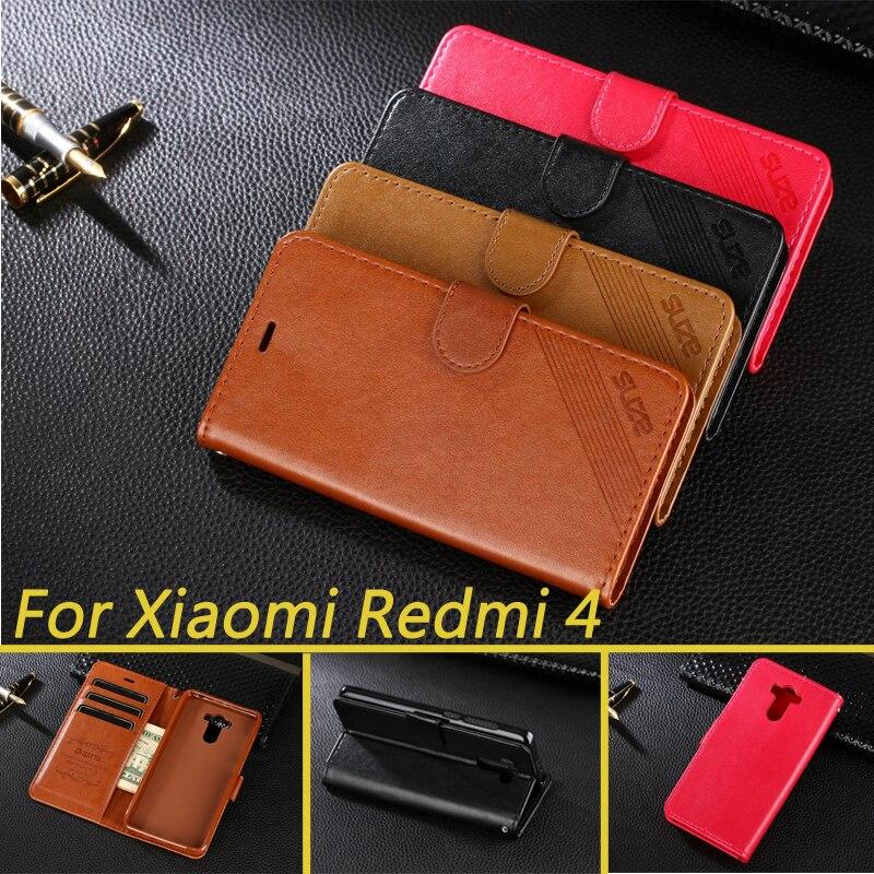Hight quality pu leather case para xiaomi redmi 4 pro/redmi 4 cubierta del tirón