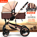 2016 carrinho De bebê de Luxo, quatro rodas único assento, estilo de moda, carrinho de criança dobrável, Amortecedores e Cadeira Alta