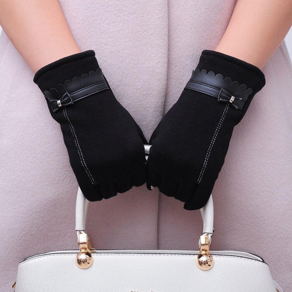 Motiviert Ein Paar Handschuhe Frauen Bowknot Winter Warme Handschuhe Fäustlinge Luvas De Inverno Gants Femme Elegantes Und Robustes Paket