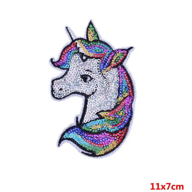 Patches Home & Garden Unicorn Horse Large Cloth Paste Patch Unicorn Horse Sequins For Clothes Tshirt Dress Size 16x28cm In Stock
