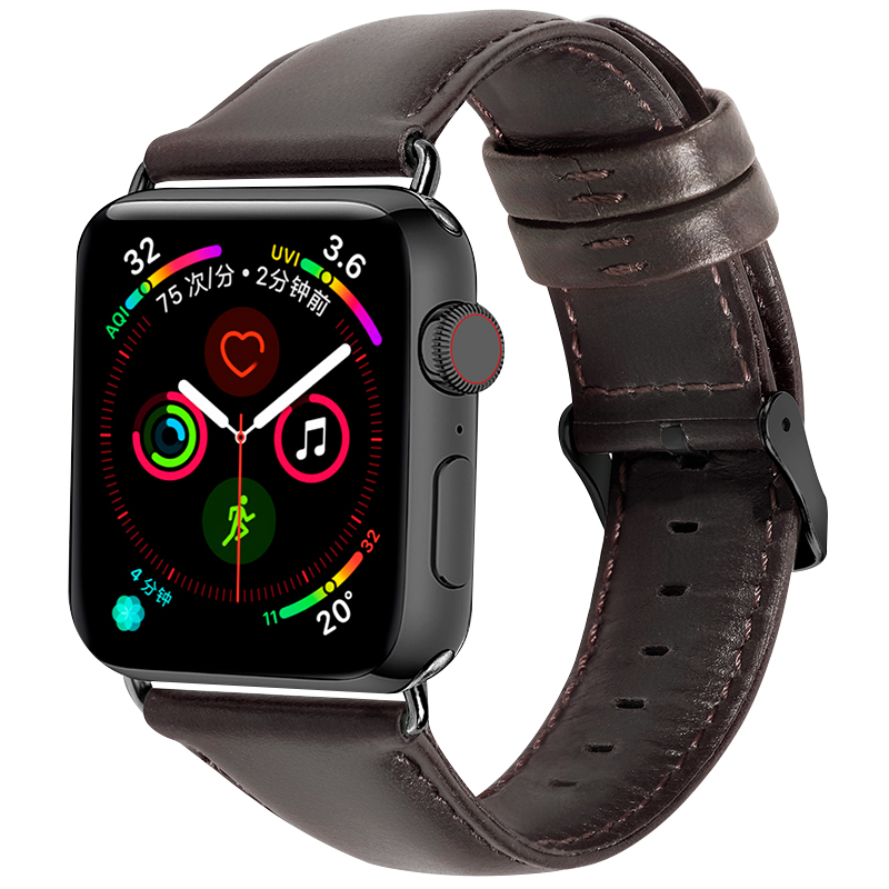 Genuine Leather for Apple watch band 4 44mm 40mm iwatch series 4 3 2 1 correa Aple watch 42mm 38mm bracelet Watchband wrist belt for apple watch band 4 44mm 40mm leather strap correa 42mm 38mm bracelet wrist watchband iwatch series 4 3 2 1 replacement belt