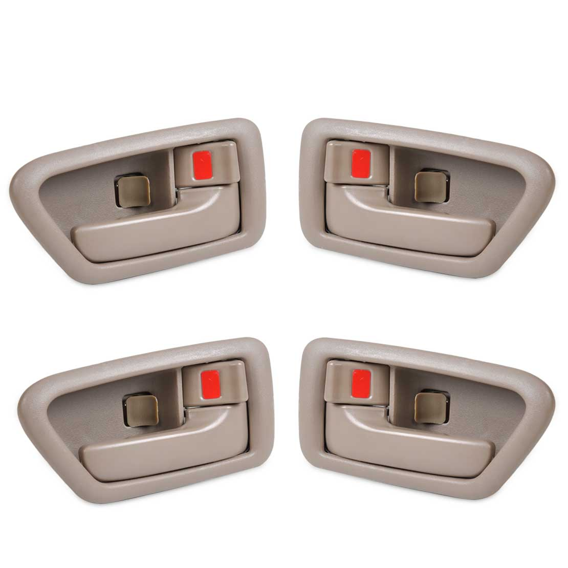Beler 4 шт. правой и левой внутри дверь ободок ручки для Toyota Camry 1997 1998 1999 2000 2001 69205AA010E0 69206AA010E0