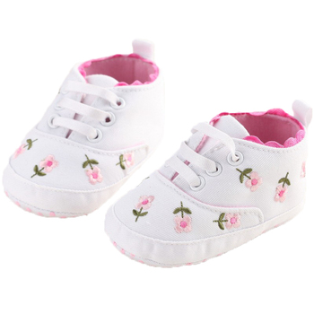 0-18 Months First Walkers Toddler Kid Baby Girl Floral Embroidered Soft Shoes For Newborn Walking Shoes  1
