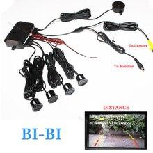 Dual Core CPU Sensor de distancia de Aparcamiento de Vídeo Del Coche Marcha Atrás Sistema de Radar de Vídeo todo-en-uno Conectar Aparcamiento DVD y el Monitor y Cámara