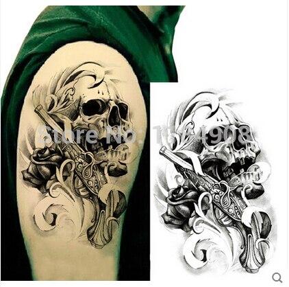 Duża Tymczasowe Tatuaż Naklejki Wodoodporne Mężczyźni Ramię Leg