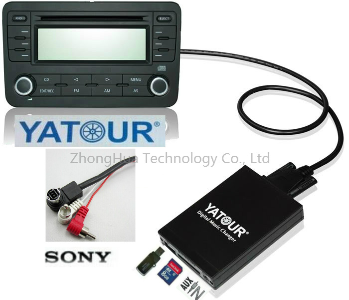 ФОТО Yatour Digital Music Car Audio USB Stereo Adapter MP3 AUX Bluetooth for Sony Head Unit interface CD Changer Player