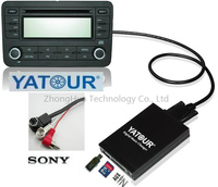 Yatour Digital Music Car Audio USB Stereo Adapter MP3 AUX Bluetooth For Sony Head Unit Interface