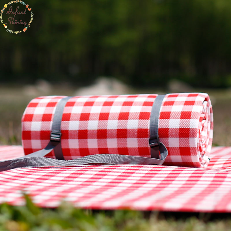 Outdoor Picnic Mat Camping Blanket Baby Crawling 5mm (0.2inch) Thickness Machine Washable Camping Mat Beach Waterproof Mat waterproof outdoor blanket picnic beach blanket mat rug s m l