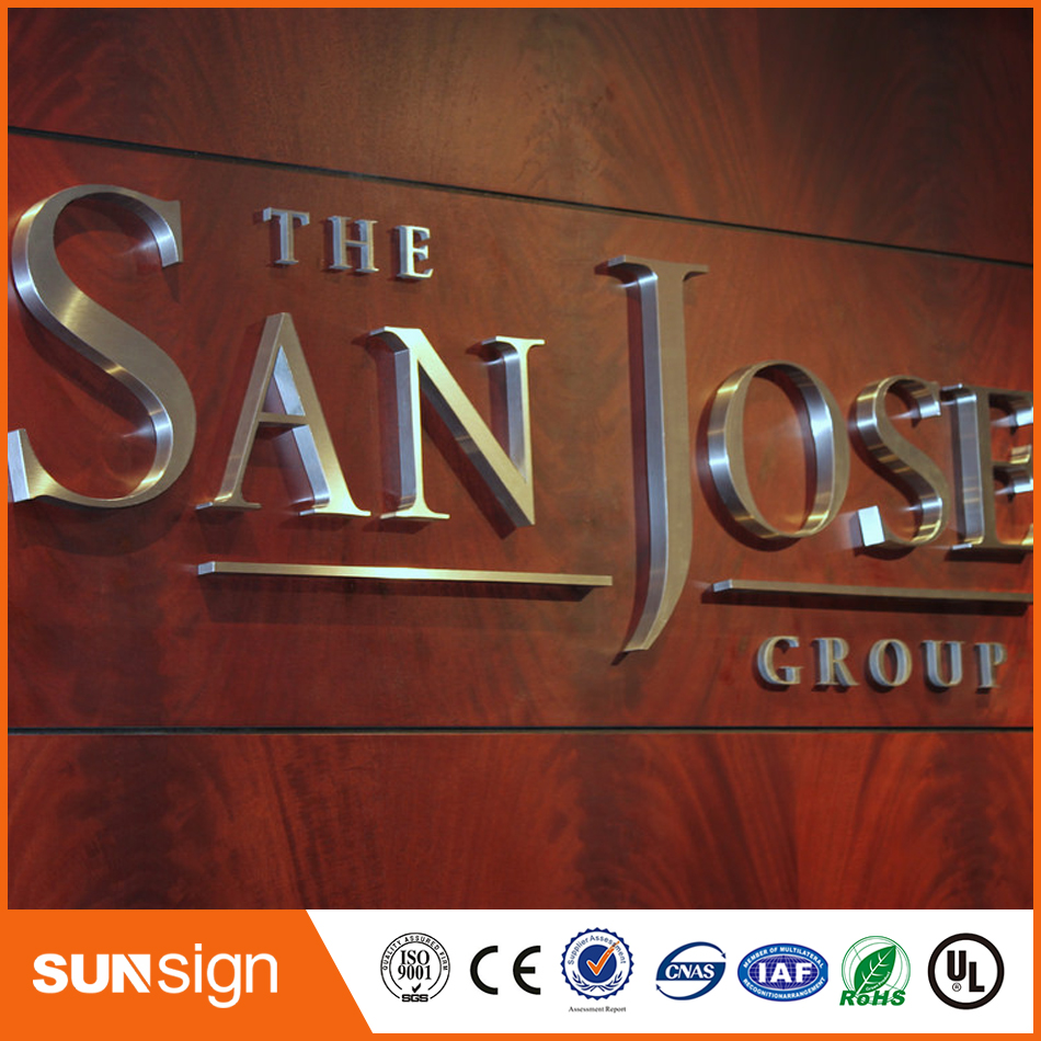 3D rust-proof outdoor chrome finish led channel letter signs3D rust-proof outdoor chrome finish led channel letter signs