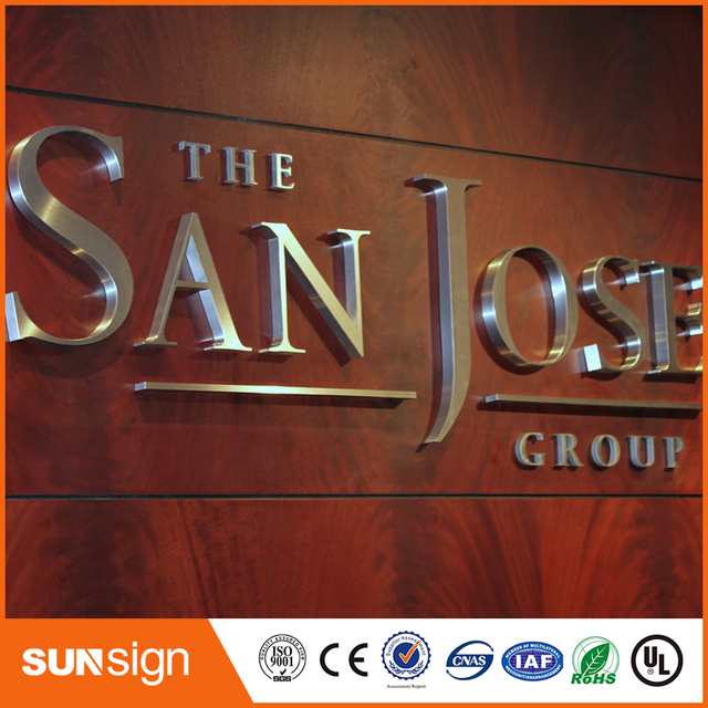 3D rust proof outdoor chrome finish led channel letter signs-in