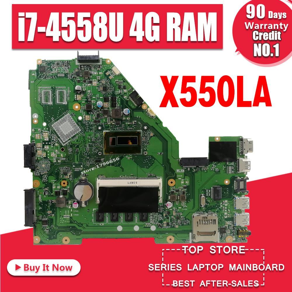 X550LA Motherboard I7-4G-REV:2.0 For ASUS A550L X550LD R510L X550LC X550L Laptop Motherboard X550LA Mainboard X550LA Motherboard