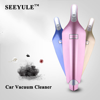 1pcs SEEYULE Top Grade 12V 120W Car Vacuum Cleaner Premium Dust Buster Hand Vac Suction Cigarette