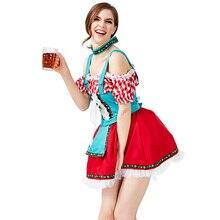 Oktoberfest Party Dresses Choker Sexy Beer Women Girls Carnival Cosplay Costume 2019 Fashion Bavarian Wench Fancy Adults Uniform