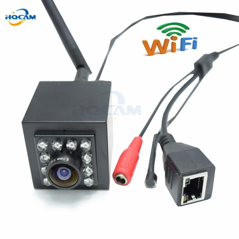 HQCAM Wide Angle 720P mini ip camera Mini IR Camera Indoor 940nm Led WIFI Ip Camera Audio Smallest Night Vision camera HI3518E цены онлайн