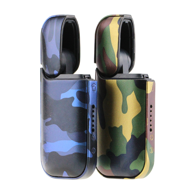 US $12 53 |Camouflage IQOS Cigarette PU Leather IQOS 2 4 Plus Case Anti  Scratch Cover For Japan Marlboro Cover Sleeve Full Protective Case-in