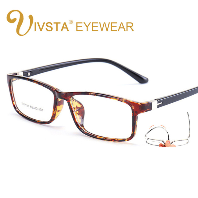 b7bce663825 IVSTA Fashion Male Women Square Optical Prescription TR90 Glasses Frame Men  Ultra Light Soft Myopia Reading Eyeglasses 1521 demi
