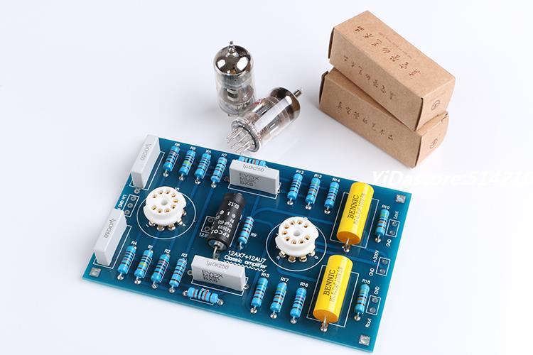 12AX7 / 21AU7 Tube Preamplifier Preamp Board DIY Kits Classic Circuit