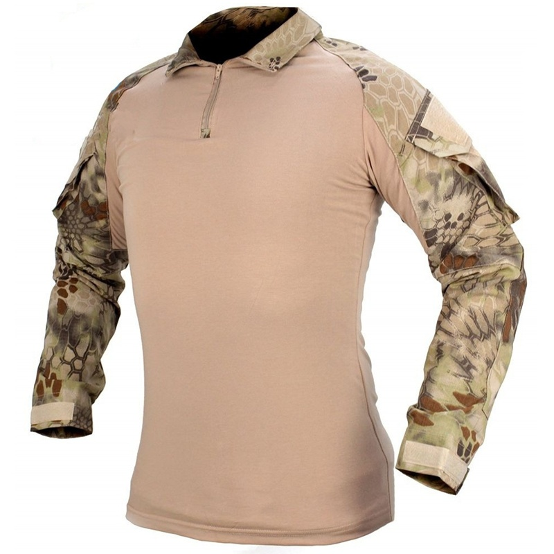 CQC Military Army Tactical Shirt Gen2 Men Hunting Paintball Airsoft BDU Combat Shirt With Elbow Pads Long Sleeve HLD Kryptek