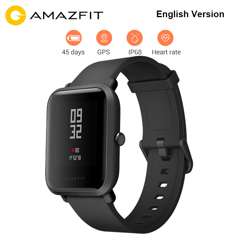 Original Xiaomi Huami Amazfit Bip BIT PACE Lite Youth Verison Smart Watch Mi Fit IP68 Waterproof Glonass+GPS English Version english version original xiaomi huami amazfit youth smart watch bip bit face gps fitness tacker heart rate baro ip68 waterproof