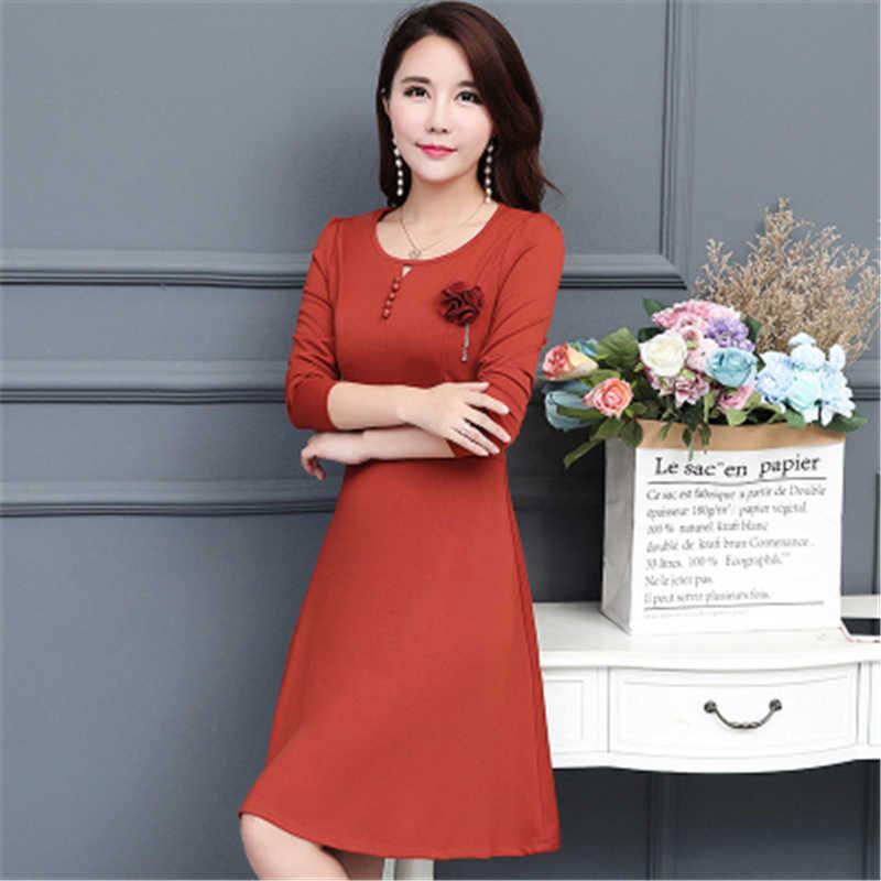 9e5f41e7bc7 ... Женское платье Новый длинным рукавом толстые теплые зимние платье  тонкий сексуальный Большие размеры 5XL Демисезонный платье ...