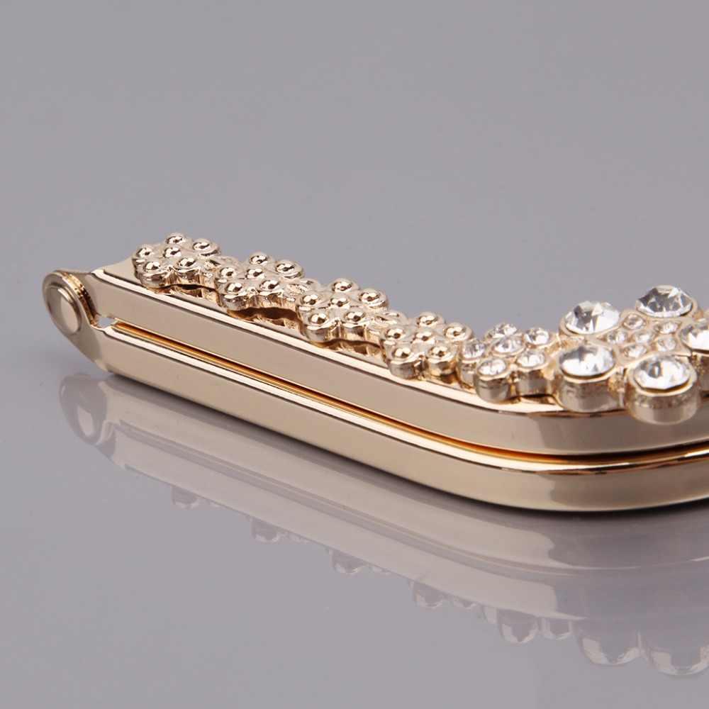 THINKTHENDO модные металлическими стразами DIY Craft Рамка Поцелуй застежка блокировки 22 см для кошелька ручкой