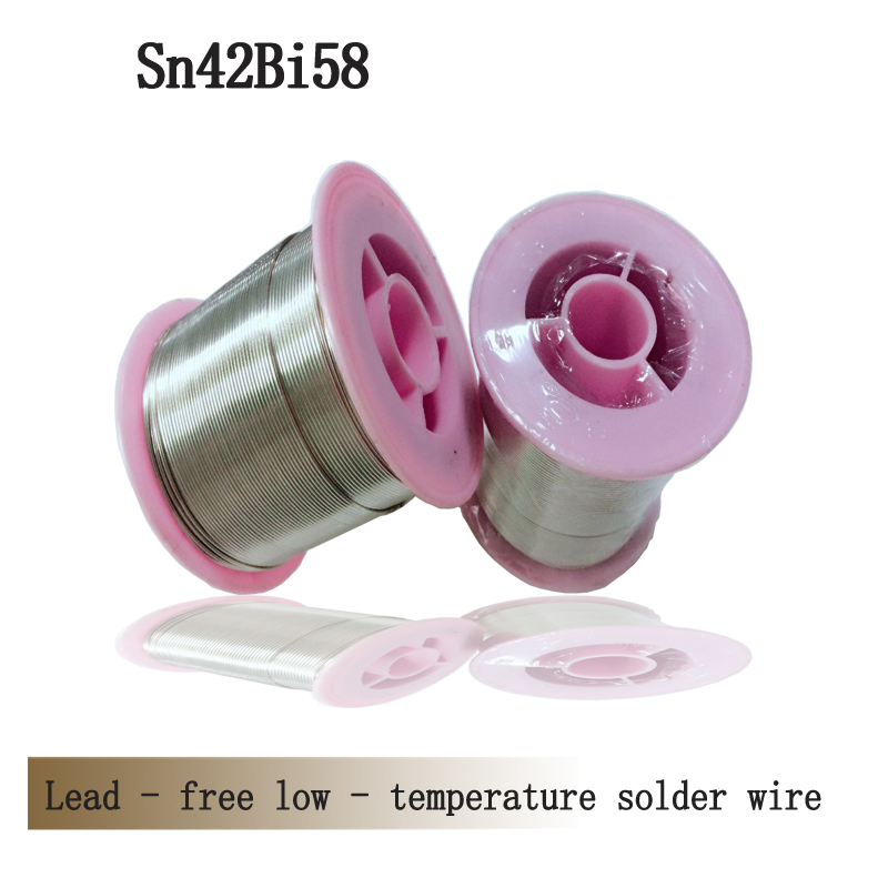 Lead-free low-temperature solder wire, Sn42Bi58 tin wire,0.8mm  low melting point solder wire 1kg