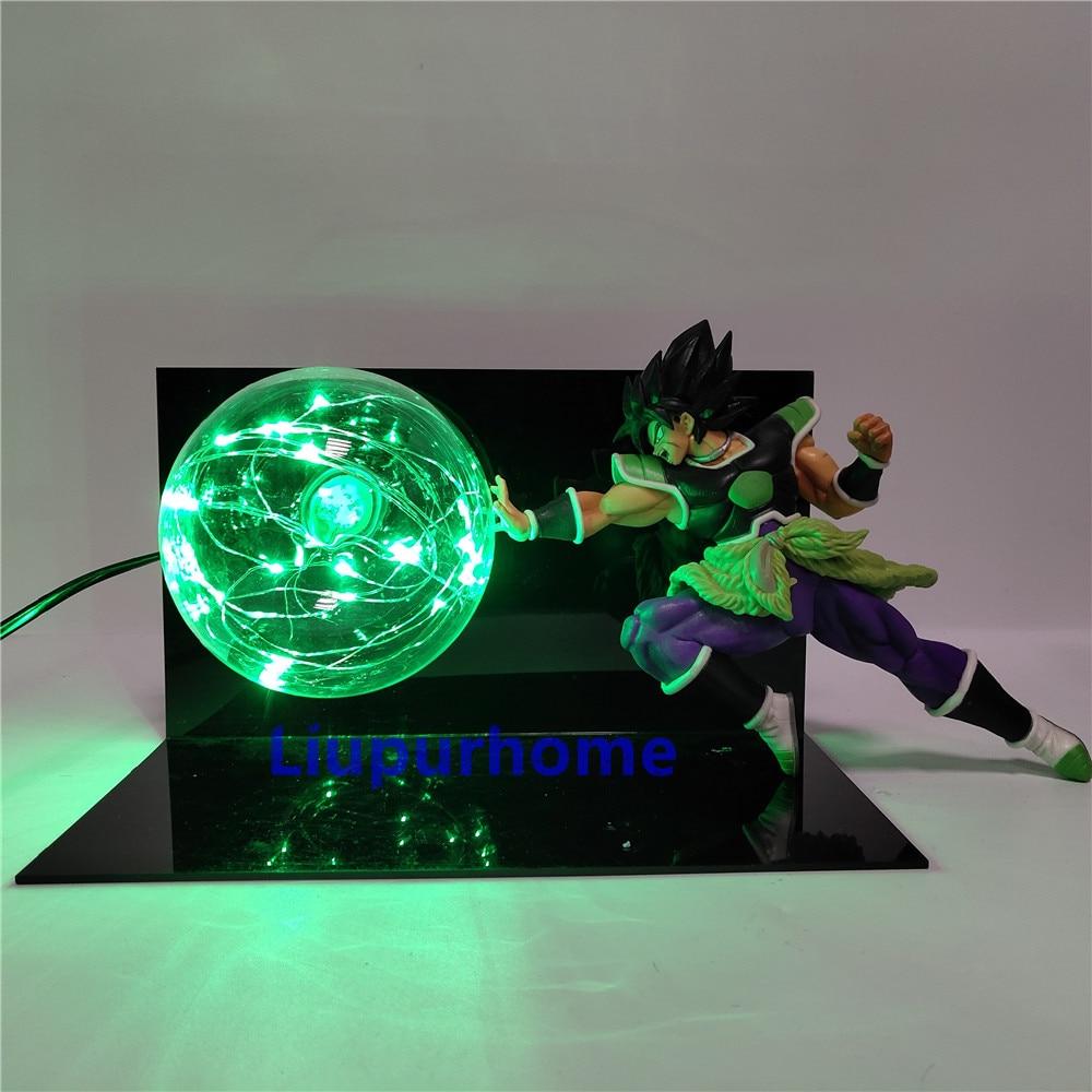 Trustful Dragon Ball Z Broli Saiyan Evolution Led Night Light Figures Anime Dragon Ball Super Broli Movie Goku Model Toy Figurine Dbz Led Lamps