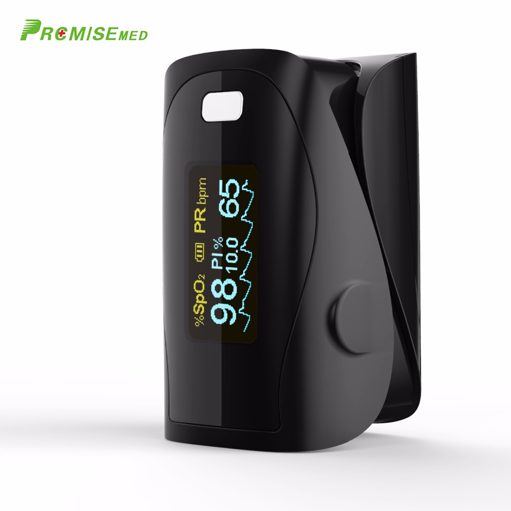 Household Health Monitors Oximeter CE Medical Heart Rate Monitor LED Fingertip Pulse Oximeter Finger Blood Oxygen-Cool Black 10