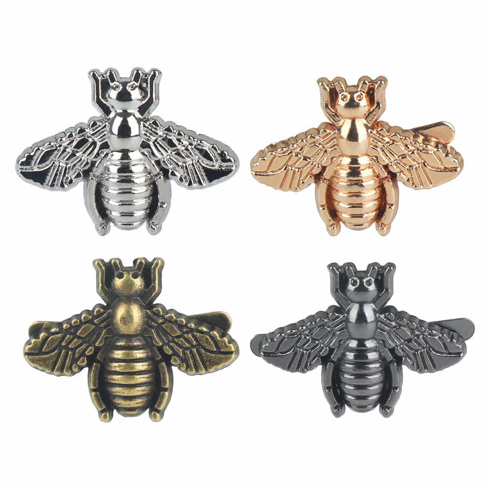 2019 nowy Exquisite metalowa pszczoła zwierząt torebka odzież dekoracji przycisk DIY Craft tkaniny Patch torba na sprzęt akcesoria torebkowe