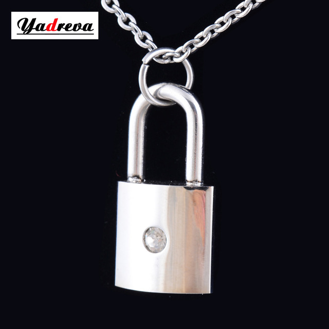 316l stainless steel lock pendant necklace free 50cm chain high 316l stainless steel lock pendant necklace free 50cm chain high polishing 037wwf0 aloadofball Choice Image