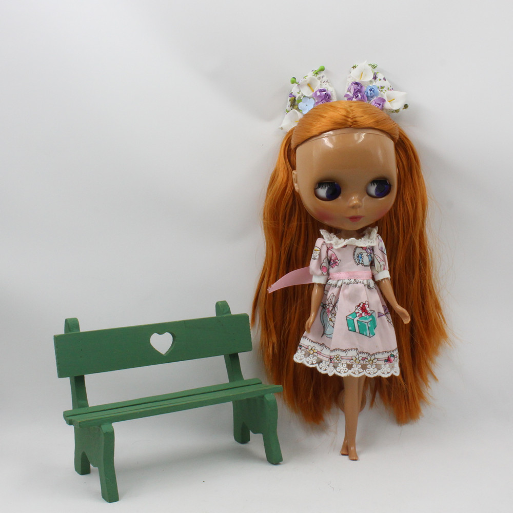 ICY Nude Blyth doll No.BL9158 Brown hair with bangs JOINT