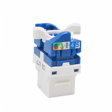 Cat6 UTP RJ45 Tool-less Keystone Jack Ethernet Cable Adapter