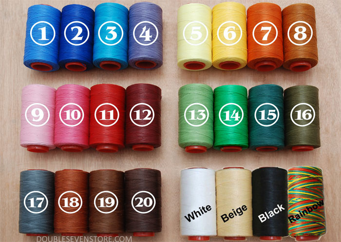 250m 1mm flat waxed Threads for Hand Sewing Leather Work 150D