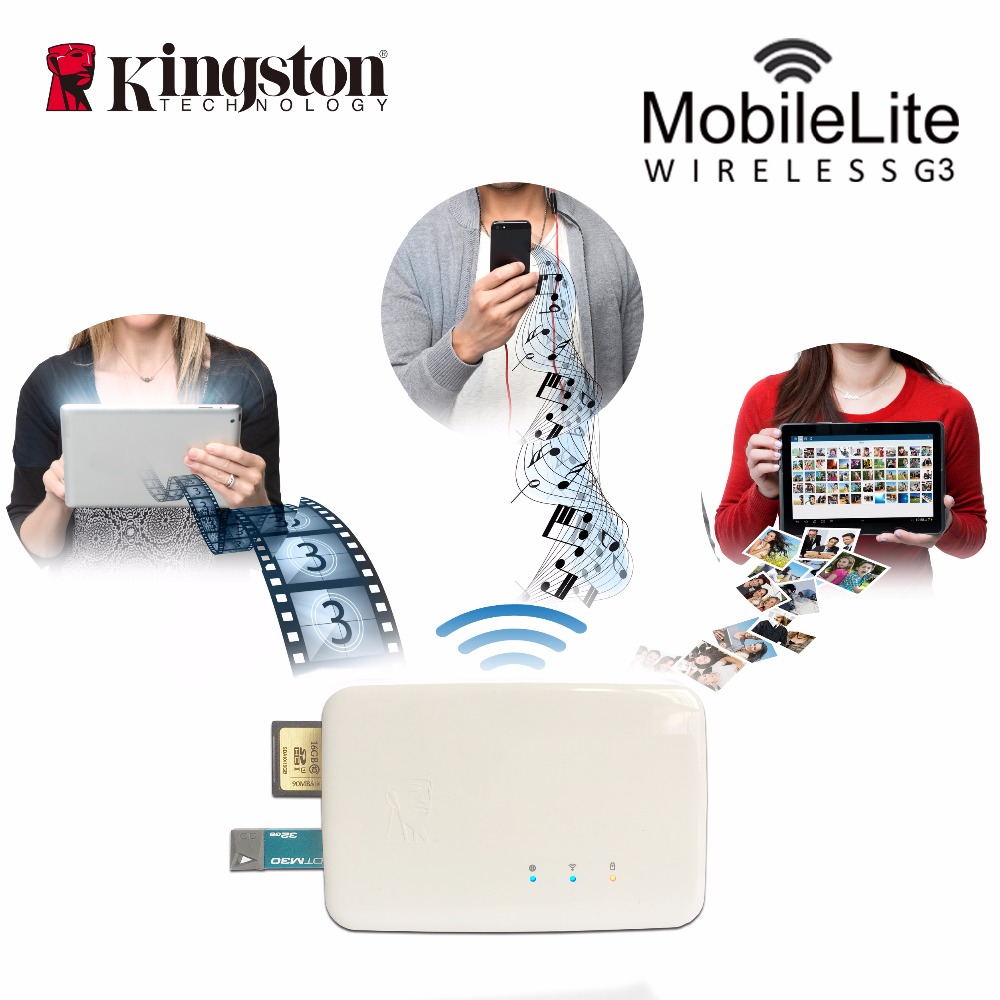 Kingston Multifunction wifi transmitter Wireless card reader data sharing device It can be used as a mobile backup power source ifound 8800mah dual usb mobile power source w sd card reader led flashlight golden