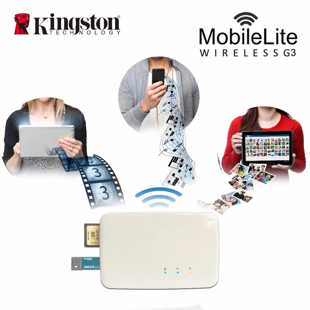 Kingston multifonction wifi transmetteur lecteur de carte sans fil dispositif de partage de données il peut être utilisé comme source d'alimentation de secours mobile