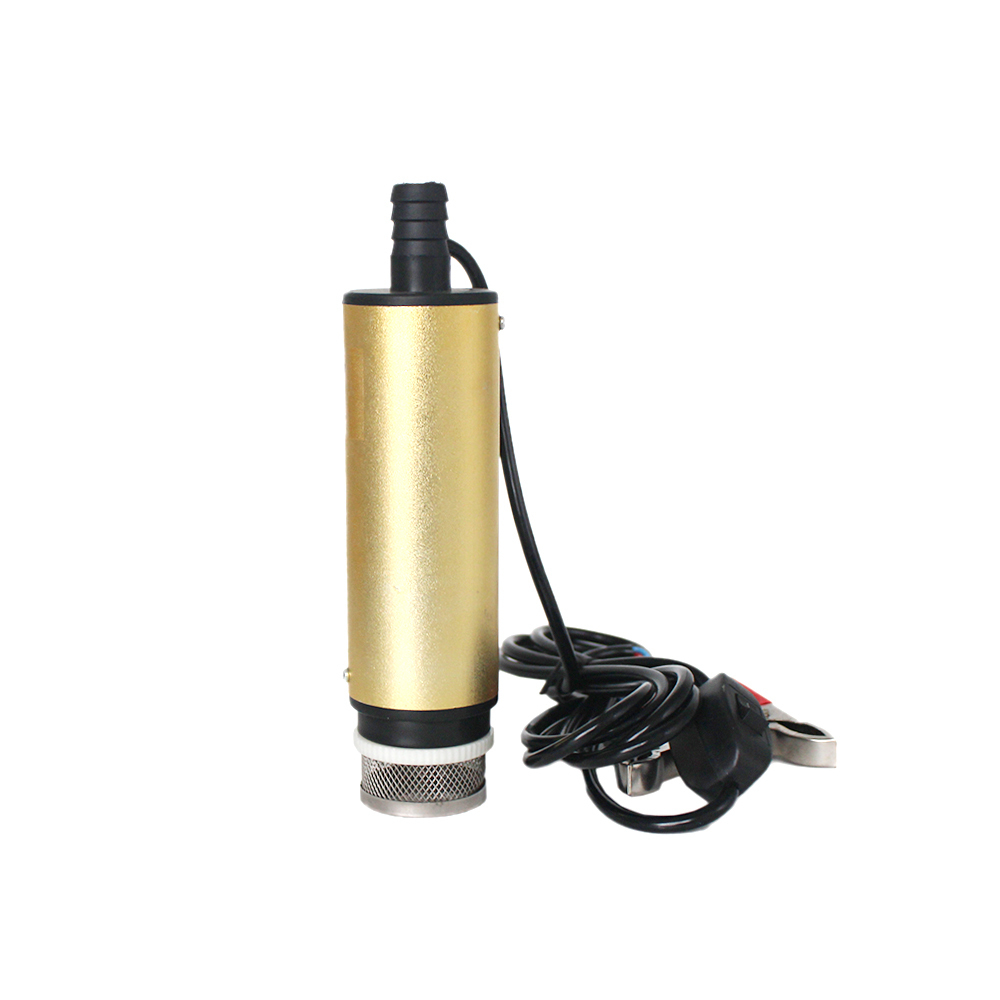12V 24V DC electric submersible pump for pumping diesel oil water with hose clamps and filter,fuel transfer,30L/min,12 24 V volt  12v dual purpose inlet electric self priming diesel oil refuel oil pump with standard 2m power line and 8m oil tube