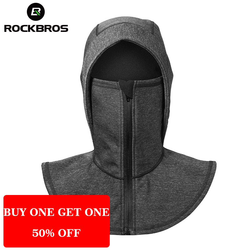 ROCKBROS Thermal Fleece Ski Headgear Windproof Skiing Bibs Snowboard Neck Warmer Face Mask Snow Sport Headwear Ski Hat Men Women outdoor sports winter thermal fleece warm ski hat earmuffs cycling cap windproof hiking riding snow cap men women knitted hat