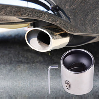 DWCX 1Pc New 304 STAINLESS STEEL EXHAUST TAIL REAR MUFFLER TIP PIPE For Honda Accord 2