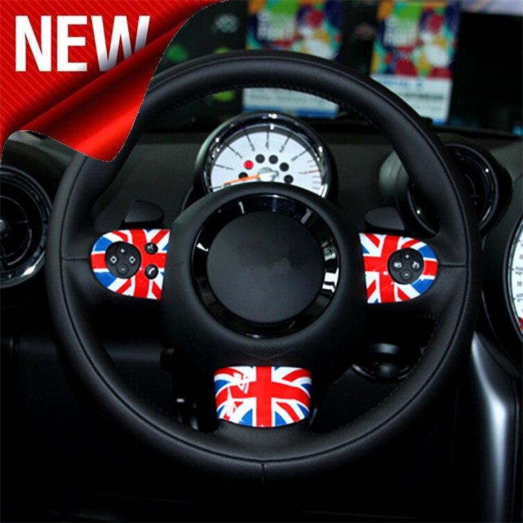 Флаг Великобритании/Проверенное рулевое колесо украшенная рамка/крышка для BMW Mini Cooper Countryman Z2EA843