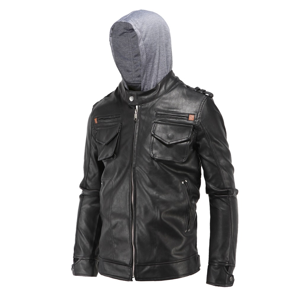Leather jacket xl size - Size L 4xl Men S Fashion Clothing Black Pu Faux Leather Jackets Male Pockets Zippers Casual