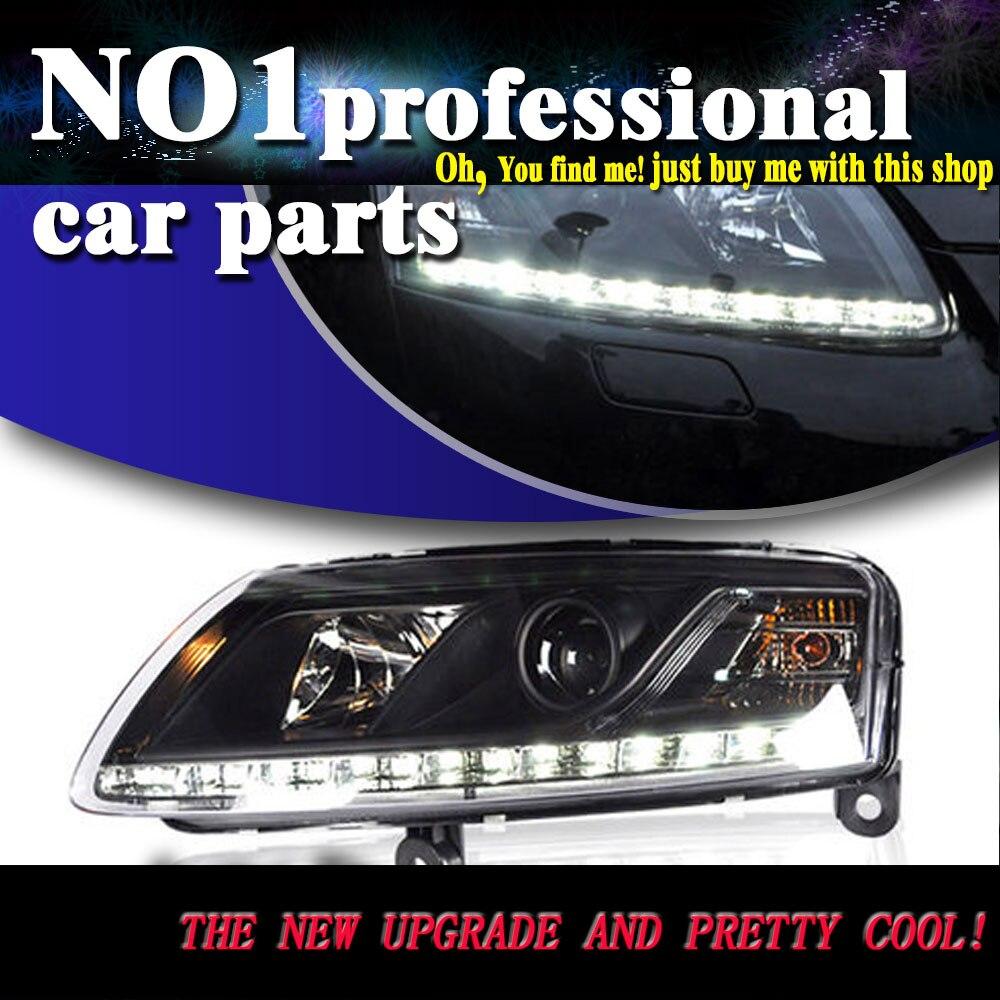 Car styling reflektory lampy g owy 2005 2008 dla audi a6 c5 g owica lampy led drl