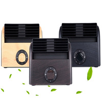 New 5th Generation Handle Mini Fan Portable Air Cooler USB Recharge Wood Grain