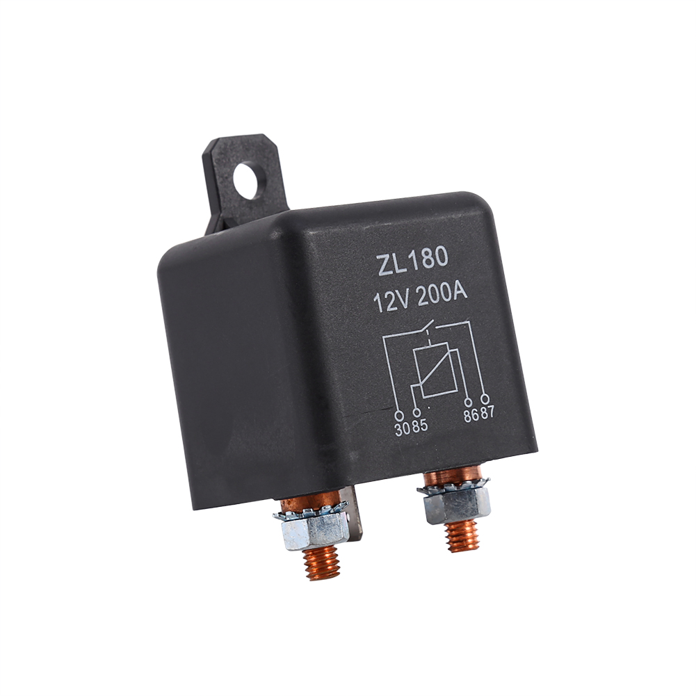 Keenso New 12V 200A 4 Pin Car Relay Black Heavy Duty Split Charge ON//OFF Switch Relays Car Auto Boat 200Amp