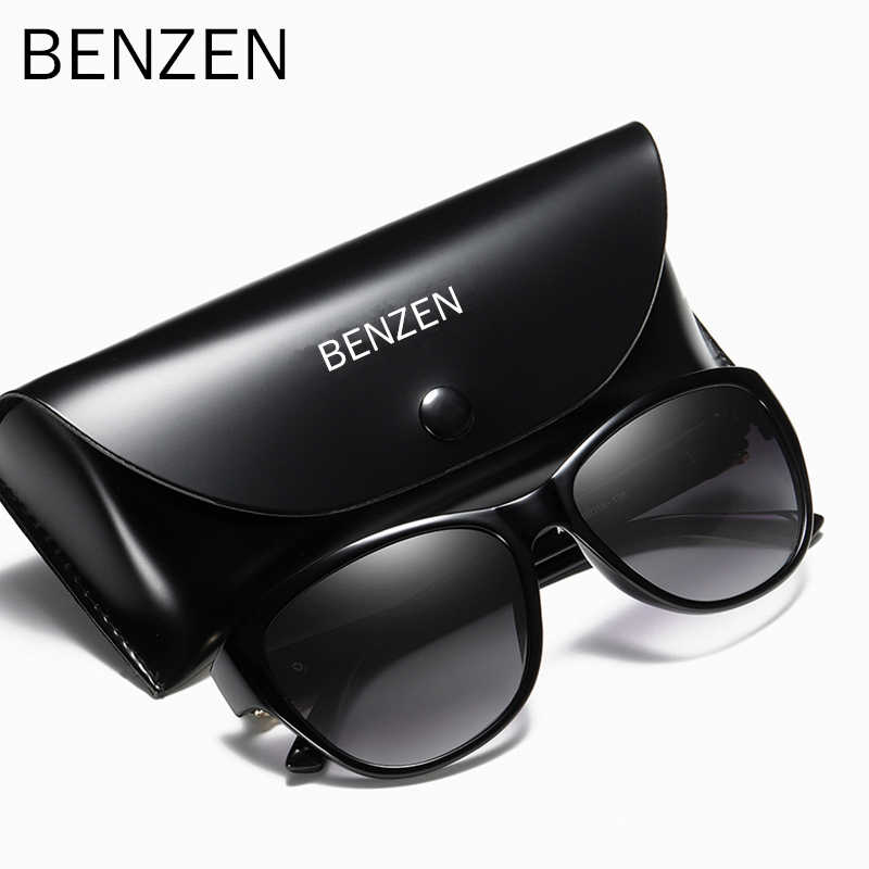 BENZEN Polarized Sunglasses Women Brand Designer Retro Female Sun Glasses For Driving Shades Gafas UV 400 Black  6131