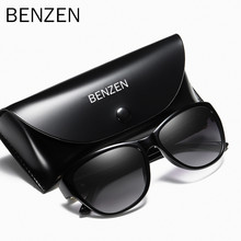 BENZEN Polarized Sunglasses Women Brand Designer Retro Female Sun Glasses For Driving Shades Gafas UV 400 Black 6131(China)