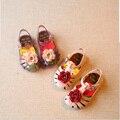 2017 new 1-5y menina sandálias sapatos da criança walker flores planas com mini melissa verão sapato calçado sandálias para os bebés