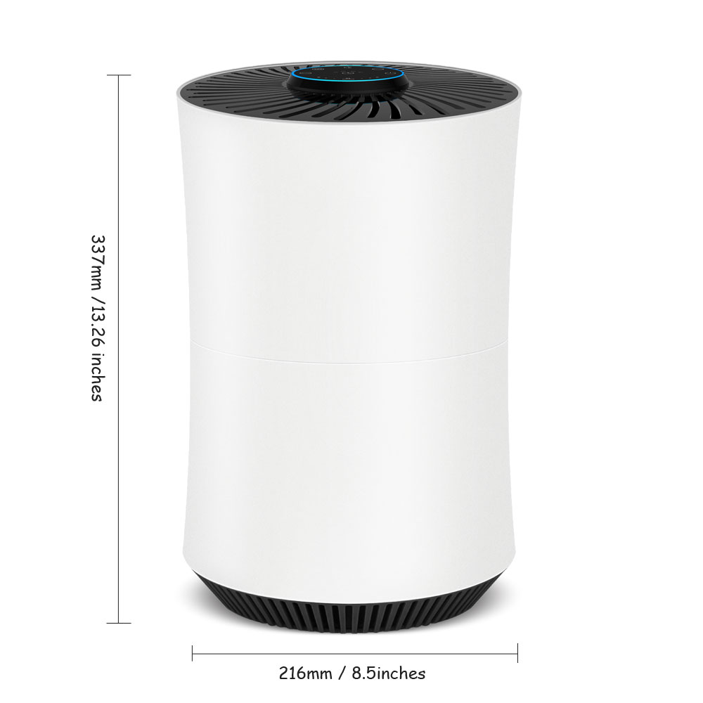 Home Air Purifier Upgraded True HEPA Filter with Odor Allergies Eliminator Air Cleaner Smokers 3Fan Speed