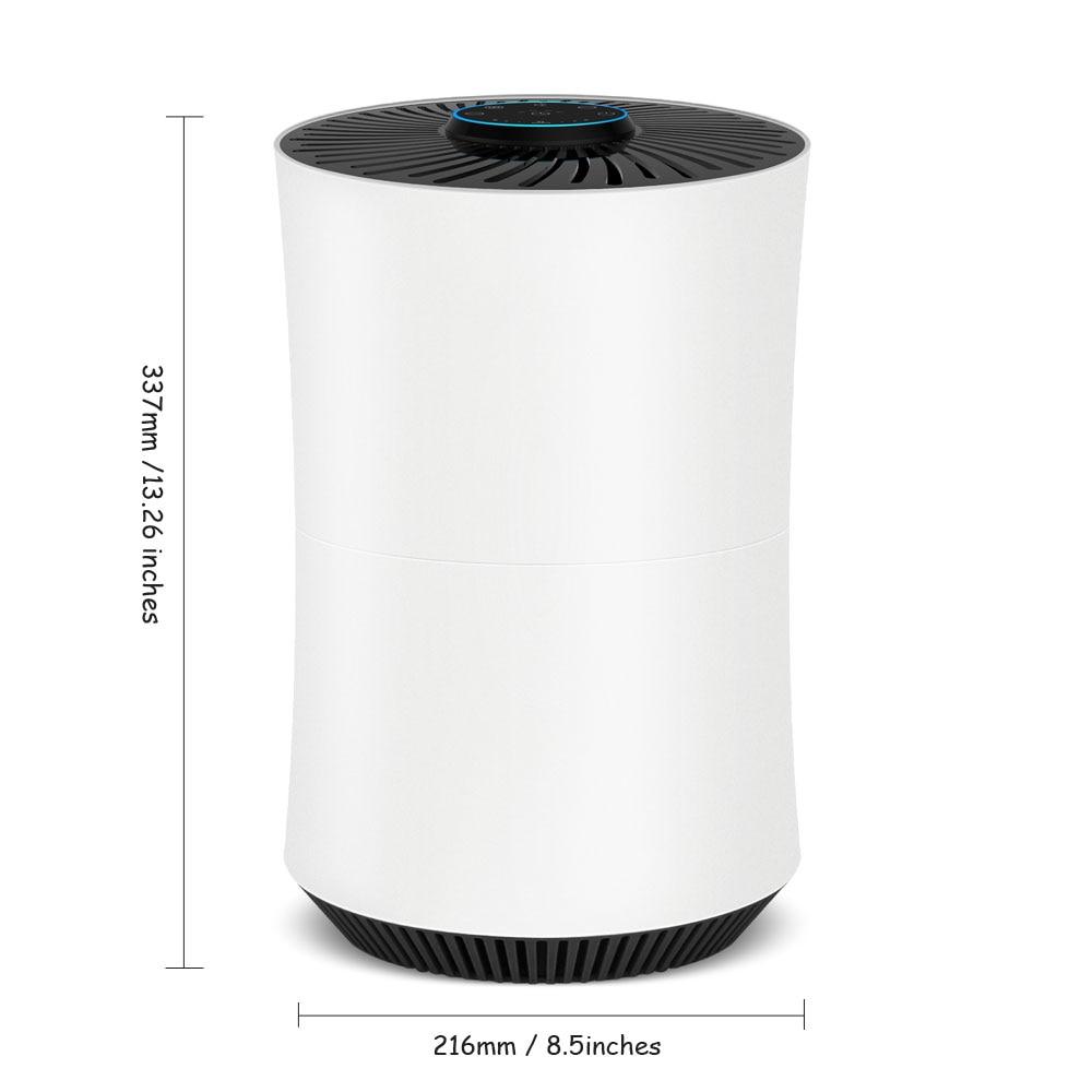 Purificateur d'air domestique amélioré véritable filtre HEPA avec éliminateur d'allergies aux odeurs filtre à Air fumeurs 3Fan niveaux de vitesse-Alanchi